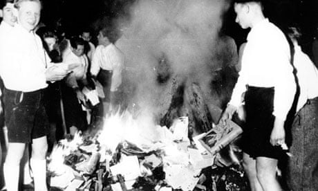 Hitler Youth burning books